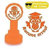 Accune Erreur -Tampon Auto-encreur pour Enseignant. Encre Fluorescent Orange