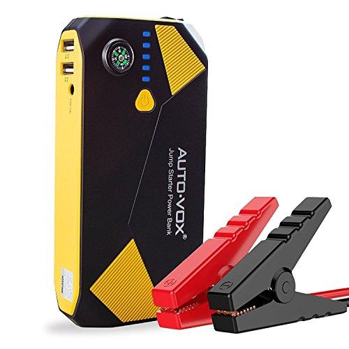 Preisvergleich Produktbild AUTO-VOX P2 Auto Starthilfe Jump Starter 500A Spitzenstrom 14000mAh Tragbare Autobatterie Externer Akku Ladegerät mit Kompas,LED Taschenlampe für Laptop,Smartphone,Tablet und vieles mehr