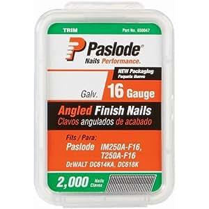 Paslode 2,000-count 2–1/5,1cm Calibre 16coudé galvanisé Finition ongles