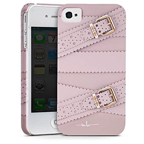 Apple iPhone X Silikon Hülle Case Schutzhülle Leder Mode Schnallen Premium Case glänzend