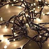 Multistore 2002 Cluster - Lichterkette 768 LED-Lichter/Warmweiß / 8,60m / 8 Leuchteffekte/Innen & Aussen - Aussenbeleuchtung Lichterkette Partylichter Lichterdeko Weihnachtsdekoration