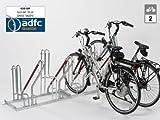 Fahrradständer - Anlehnparker 4502 XBF einseitig - 2 Einstellplätze - Radabstand 500 mm