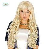 hellblonde sexy Langhaar Perücke Prinzessin Karneval Motto Party Zubehör für Damen blond