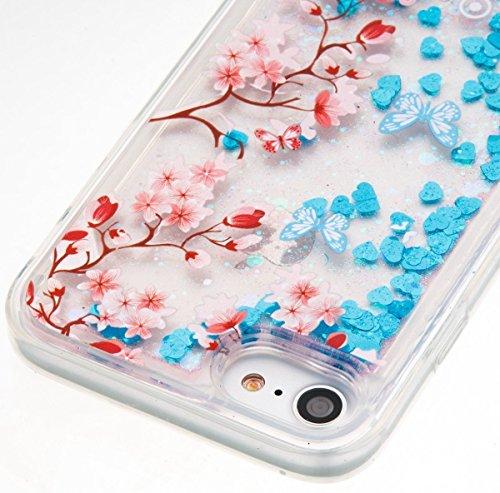 iPhone SE Case Slim,iPhone SE Hülle Transparent,iPhone SE Hülle Glitzer,iPhone 5S Clear Flüssige Hart Case Hülle Klare Plastik Gel Schutzhülle Rückschale Etui für iPhone 5,iPhone 5S Hülle Kreative Liq U Liquid 6