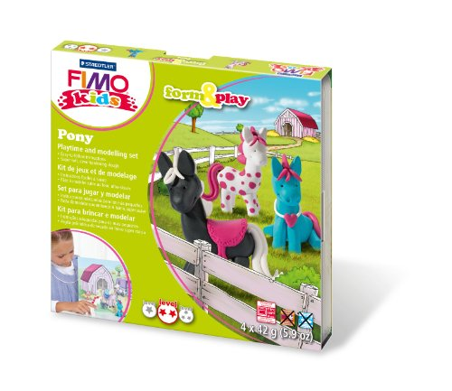 fimo-7-parts-kids-form-and-play-pony-modelling-set-multi-colour