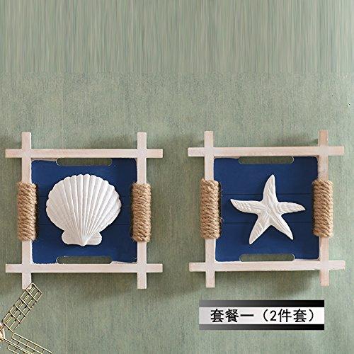 Mediterran Kombination von kreativen Wand hängenden Schmuck , Box Paket 1 (Greifer + SEA STAR)
