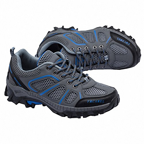Ben Sports Herren Damen Wanderhalbschuhe Wanderstiefel Walkingschuhe Traillaufschuhe Laufschuhe Grau
