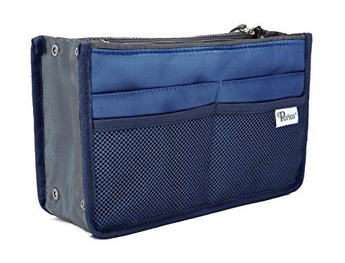 Periea - Organiseur de sac à main, 12 Compartiments - Chelsy (20 Couleurs) (Grand: H20 x L33.5 x P2-26cm, Bleu Royal)