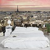 Apalis Vliestapete Paris hautnah Fototapete Breit | Vlies Tapete Wandtapete Wandbild Foto 3D Fototapete für Schlafzimmer Wohnzimmer Küche | mehrfarbig, 94765