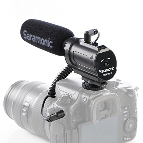 Micrófono Condensador Unidireccional - Saramonic SR-PMIC1 - Es Compatible con las marcas de Cámaras Nikon, Sony, Canon y VIdeocámaras
