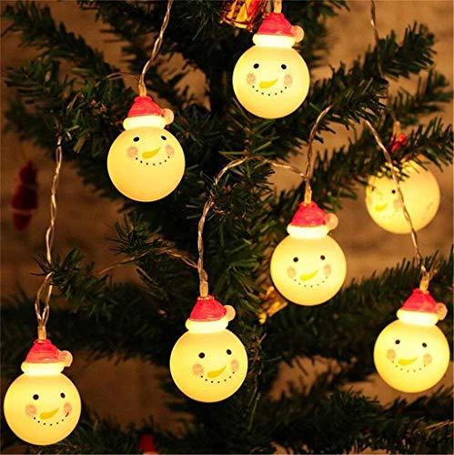 Mitlfuny Christmas,Weihnachtsdekoration,Christmas Decorations,Christmas Vacation,Weihnachten 10 LED Lichterkette Schneemann Weihnachtsmann Fairy Light Party Home - Kleinkind Mädchen Cupcake Kostüm