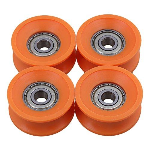 6x30x13mm 606ZZ Orange U Nutführungsrolle Kugellager für Möbelrolle Packung mit 4 Stück