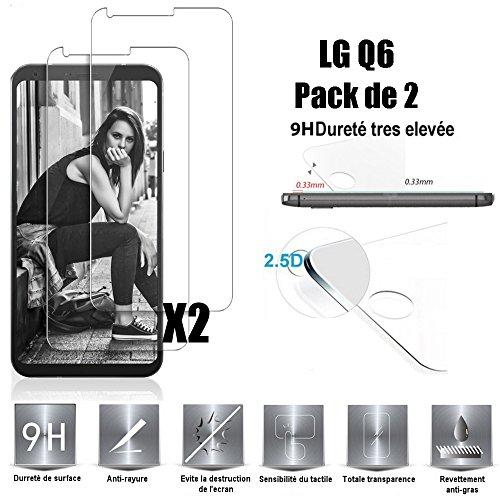 Scott-DE LG Q6 - Q6 Plus Schutzfolie, Glas Folie 9H Härte Panzerglas [Anti-Kratzen] [Anti-Bläschen] Bildschirmschutzfolie für LG Q6 - Q6 Plus