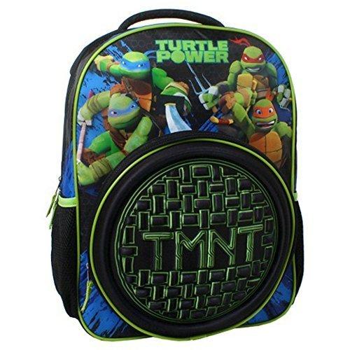 Mochila-de-las-Tortugas-Ninja-Carcasa-rgida-Logo-color-negro-16-Bolso-de-escuela-nueva-124735