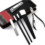 PhantomSky 6 Pezzi in Acciaio Inox per Manicure Pedicure Set-tagliaunghie Pulitore Cuticola Grooming Kit - Perfetto Forbicine Tool Set per Uso Professionale e Quotidiano