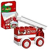 LEGO Duplo My First Autopompa Camion a 4 Ruote, Include Decorazioni di Passeggeri e 1 Scala sul Tetto per Ispirare il Gioco di Fantasia, Set di Costruzioni per Bambini di 1 Anno e Mezzo, 10917
