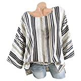 Damen Bekleidung Lange Ärmel Shirt Top Freizeit O-Kragen Streifen Drucken