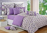 Swayam Purple and White Colour Floral Si...