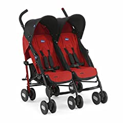 Idea Regalo - Chicco 4079311110000 Echo Twin Passeggino Gemellare, Garnet
