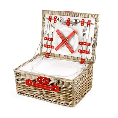 Empty Picnic Basket, Red Cool Hamper (2-Person 16