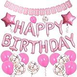 MUXItrade Decoración de cumpleaños,Globos Cumpleaños Happy Bir