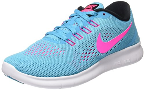Nike Free Run, Chaussures de Running Entrainement femme Turquoise (Gamma Blue/Pink Blast/Photo Blue/Black)