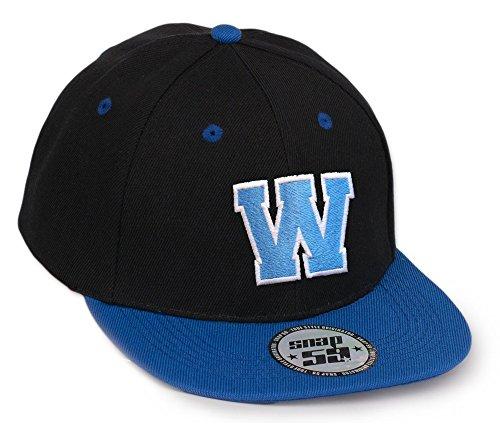 Bonnet Chapeau Casquette Snapback 59 Baseball Cap Alphabet letters A-Z Snap Back (N) W