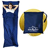 Sleeping Bag Liner + Pillow Inlet by BeMaxx Outdoor � Compact, Lightweight Inlay | Summer Microfibre Bedroll | Space�saving and Perfect for Travelling, Trekking, Camping, Hiking | Men, Women, Children