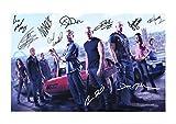 Fast & Furious 6 Autogramme Signiert 21cm x 29.7cm Foto Plakat