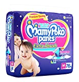 #6: MamyPoko Extra Absorb Medium Size Pants (76N)