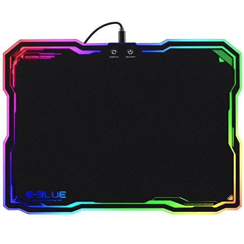 Tapis de Souris Gamer Lumineux, Gaming Mouse Pad avec LED Rétro-Eclairage RGB, 36.5 x 26.5 x 0.5cm