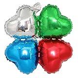 Jushi Vierblättriges Kleeblatt-Form-Folienballon 10Pcs Dekorative Aluminiumfolie Ballon-Party Ornament Hochzeit Zubehör