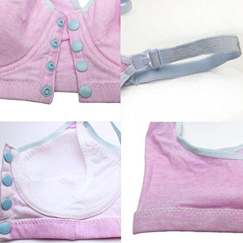 NINGMI Femmes Maternité Infirmiers Soutien-Gorge Allaitement Confortable sans Armatures Rose