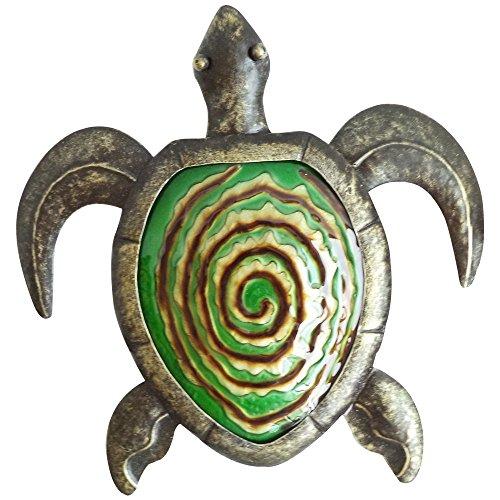 kuscheliges Stunde 30,5cm grün bronze Metal Art Schildkröte Wand Decor -