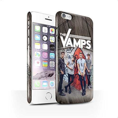 Offiziell The Vamps Hülle / Glanz Snap-On Case für Apple iPhone 6 / Pack 6pcs Muster / The Vamps Fotoshoot Kollektion Holz-Effekt