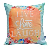 Air Castle- Home Decore- Polyester & Polyester Blend- Live love laugh Cushion Cover best price on Amazon @ Rs. 706