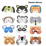 LouiseEvel215 12 Teile/Satz Lustige Eva Kinder Cartoon Tiermasken Dress Up Kostüm Zoo Dschungel Party Supplies für Kinder (Muster Zufällig)