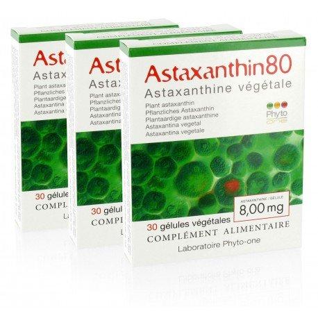 Phyto-one - 3 Astaxanthin80 (astaxanthine naturelle - 8 mg/gélule)