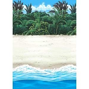 Amscan Rouleau De Décoration Murale - Hawaï (Plage Hawaïenne) - Taille Unique