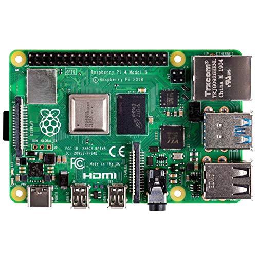 BIYI Pi 4 Modell B mit 1/2 / 4GB RAM BCM2711 Vierkern Cortex-A72 ARM v8 1,5 GHz Unterstützung 2,4/5,0 GHz WIFI BT 5.0 (Grün)
