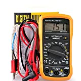 Jusheng Multimetro digitale LCD Multifunzione Mini AC/DC Tensione Corrente Frequenza Temperatura Tester Contatore Voltmetro Multimetro MS8233C