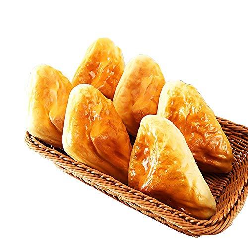 PU Material Gefälschte Brot, künstliche Simulierte Realstic Lebensmittel, Home Küche Dekoration Urlaub Spielzeug, 6 Stücke