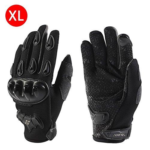 1 Paar Motorradhandschuhe Handschuhe Vollfinger Handschuhe für Motorrad Fahrrad Schutz Sommer Herren und Damen Grau XL