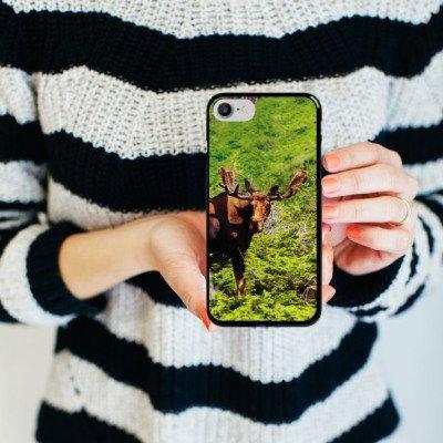 Apple iPhone X Silikon Hülle Case Schutzhülle Elch Rentier Hirsch Hard Case schwarz