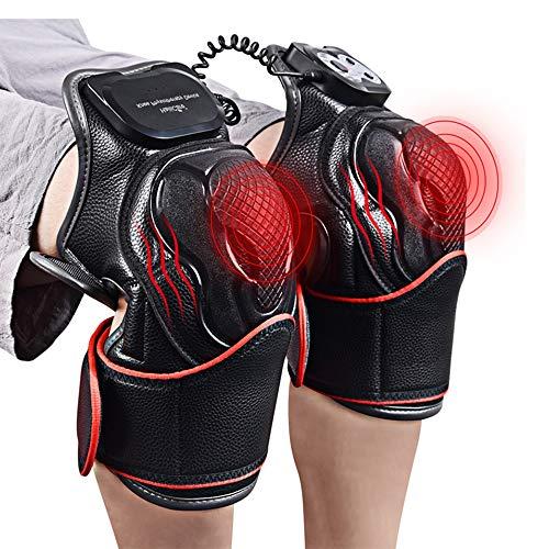 Dr.Taylor Beheizte Kniebandageverpackung, Elektrisches Knie-Magnetvibrationsheizmassagegerät mit Timer, Beingelenk-Physiotherapie-Schmerzlinderung für Männer/Frauen Taylor Timer