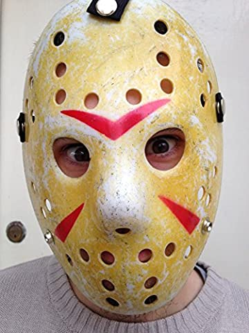 Friday Der 13. Jason Hockey ~ Halloween Kostüm Plastik Maske Requisit Replik (Jason Kostüm Freitag Der 13.)