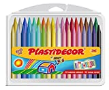 BIC Kids Plastidecor - Pack de 36 ceras para colorear