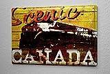 Blechschild M. A. Allen Retro Landschaft Kanada Nostalgie Deko 20x30 cm