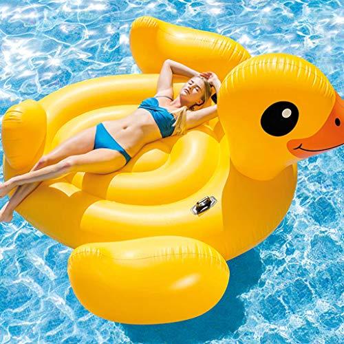 Festnight Flotador Piscina Centro de Juegos Hinchable Mega Yellow Duck Island 221...