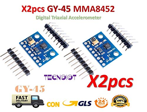 TECNOIOT 2pcs GY-45 MMA8452 Digital Triaxial Accelerometer High-Precision Inclination |2 stücke High Precision Tilt Modul GY-45 MMA8452 Digitalen Triaxialen Beschleunigungsmesser Modul Tilt-modul